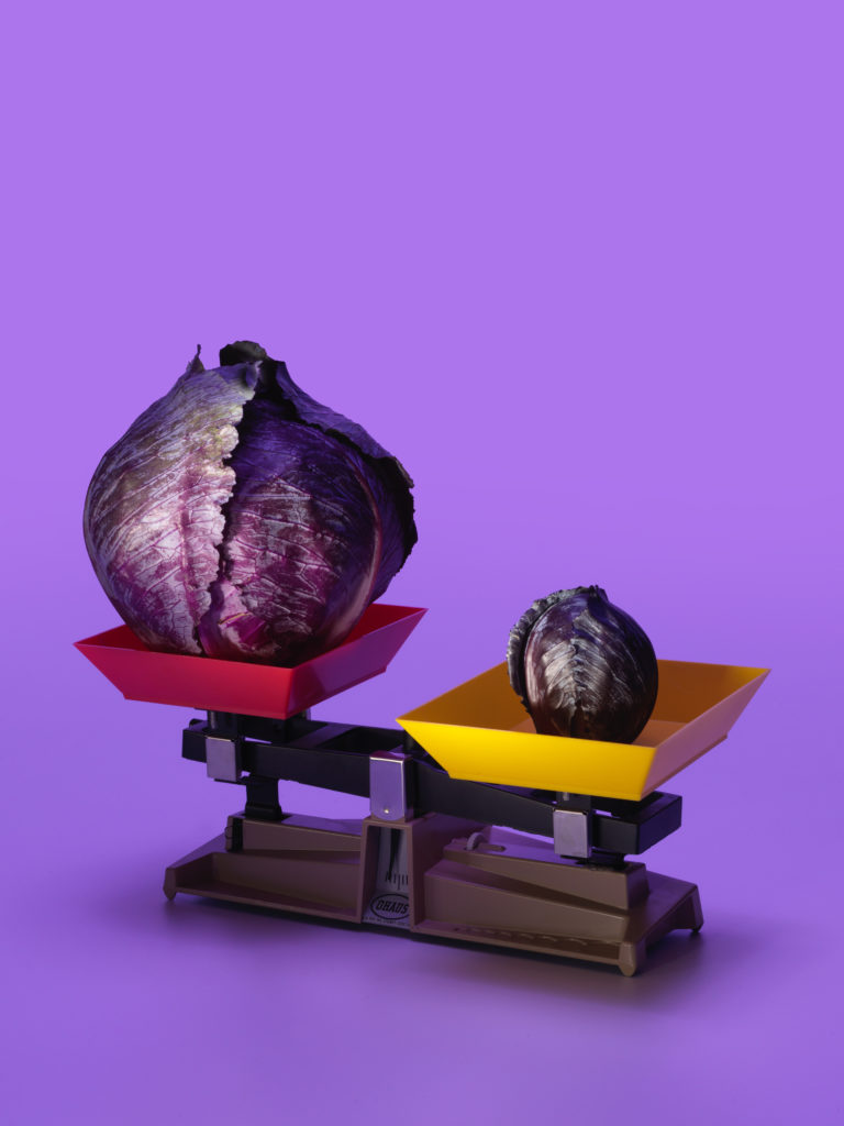 Roasted Red Cabbage Wedges with Caraway Cream Sauce