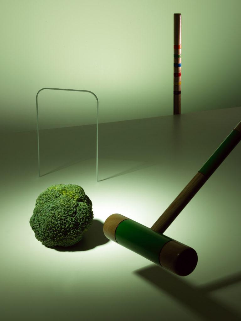 Broccoli Balls with Broccoli Stem Crema