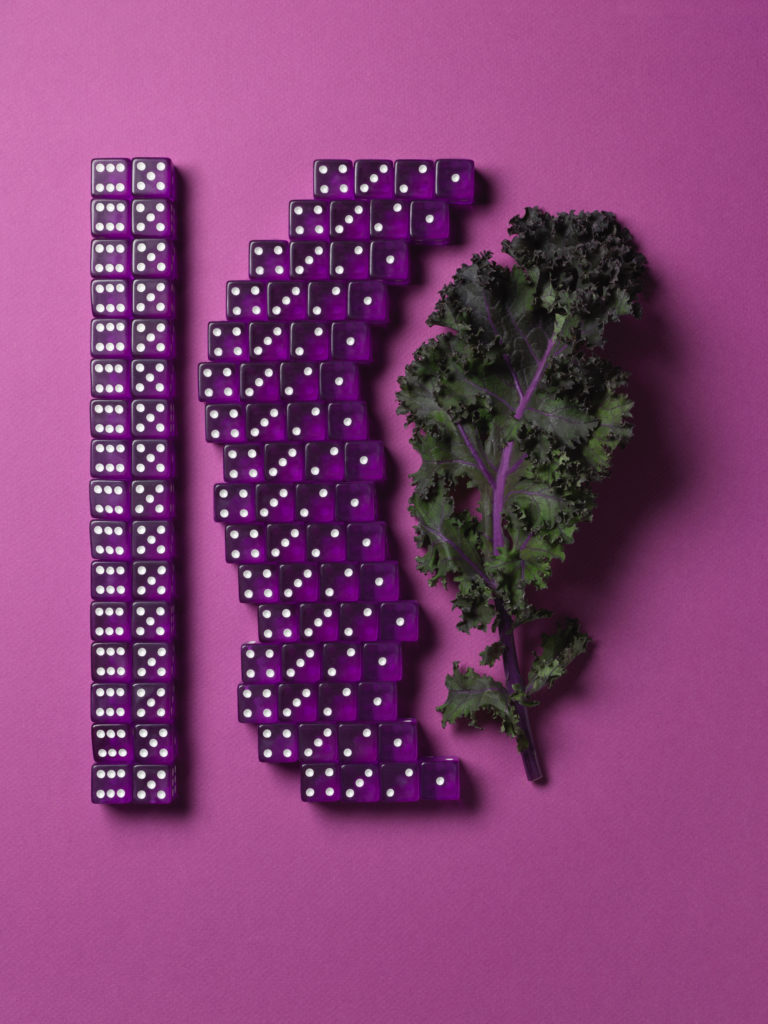 Crispy Purple Kale Sheet Pan Dinner